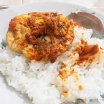 nasi telor kimchi