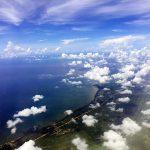 pemandangan dari dalam pesawatatr