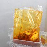 kimchi samwon didalam platik wrap
